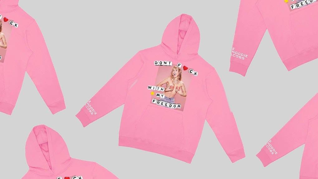 Miley Cyrus Marc Jacobs Planned Parenthood hoodie